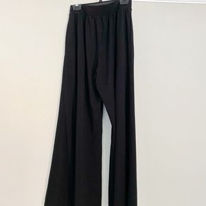 Uniqlo black women skirt wide legs pants